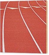 Ballard High School Track Sruface Wood Print by Nathan Griffith