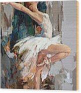 Ballerina 22 Wood Print