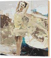 Ballerina 34 Wood Print