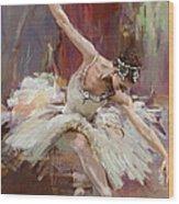 Ballerina 36 Wood Print