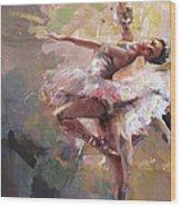 Ballerina 40 Wood Print