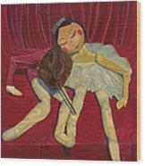 Ballerina And Partner Wood Print
