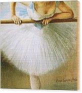 Ballerina At The Bar Wood Print