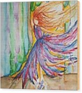Ballerina Curtain Call Wood Print