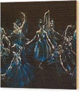 Ballerina Ghosts Wood Print by Jani Freimann