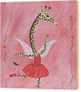 Ballerina Giraffe Girls Room Art Wood Print by Kristi L Randall Brooklyn Alien Art