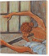 Ballerina II Wood Print by Xueling Zou