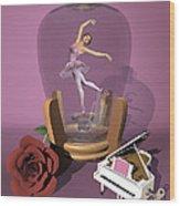 Ballerina In A Bottle - Heaven Wood Print