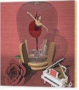 Ballerina In A Bottle - Kiko Wood Print