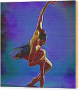 Ballerina On Point Wood Print