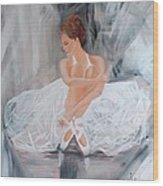 Ballerina Posing Wood Print