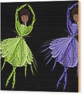 Ballerina Rainbow 2 Wood Print
