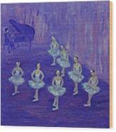 Ballerina Rehearsal Wood Print