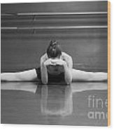Ballerina Resting Wood Print by Allegresse Photography