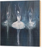 Ballerina. Swan Lake. Wood Print