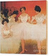 Ballerinas Resting Wood Print by Pg Reproductions