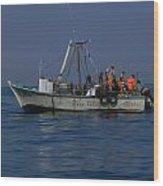 Ballestas Fishing Boat Wood Print