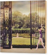 Ballet At The Vanderbilt Gate Wood Print