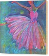 Ballet Bliss Wood Print by Deb Magelssen