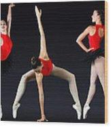 Ballet Dancer Wood Print by Stephen Norris