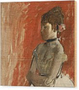 Ballet Dancer With Arms Crossed Wood Print