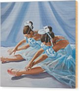 Ballet Dancers Wood Print by Paul Walsh
