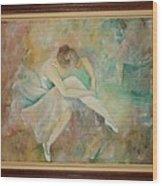 Ballet Dancers Wood Print by Ri Mo