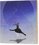 Ballet In Solitude  Wood Print