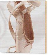 Ballet Shoe Wood Print
