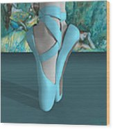 Ballet Toe Shoes With A Touch Of Edgar Degas Wood Print