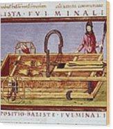 Ballista Fulminalis. Siege Machine Used Wood Print