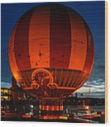 The Great Balloon Wood Print