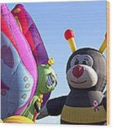 Balloon Bug Talk Wood Print