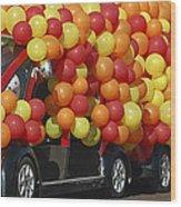 Balloon Car Wood Print