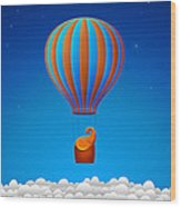 Balloon Elephant Wood Print by Gianfranco Weiss