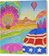 Balloon Festival Yuma Wood Print