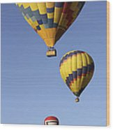 Balloon Fiesta 2012 Wood Print by Mike McGlothlen