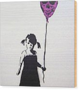 Balloon Girl Wood Print