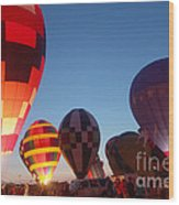 Balloon-glow-7783 Wood Print