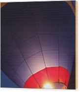 Balloon-glowpurple-7710 Wood Print