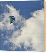 Balloon In The Clouds Wood Print