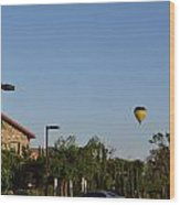 Balloon Over Lorimar Wood Print
