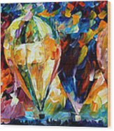 Balloon Parade - Palette Knife Oil Painting On Canvas By Leonid Afremov Wood Print