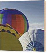 Balloon Pillows Wood Print