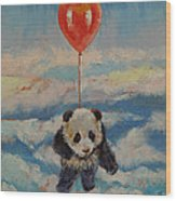 Balloon Ride Wood Print by Michael Creese