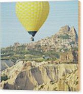 Balloon Ride Over Goreme National Park Wood Print