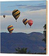 Balloon Rise Wood Print