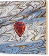 Balloon Shimmy Wood Print
