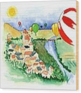 Ballooning In France 2 Wood Print