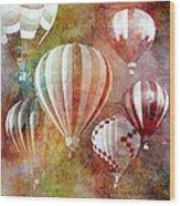 Balloons 3 Wood Print